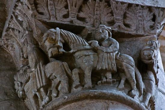 Knights in line, Église Saint-Pierre d'Airvault, Airvault (Deux-Sèvres) Photo by PJ McKey