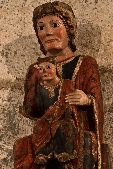 Vierge Romane, Eglise Sainte-Marie à Corneilla-de-Conflent, Corneilla-de-Conflent (Pyrénées-Orientales) Photo by PJ McKey