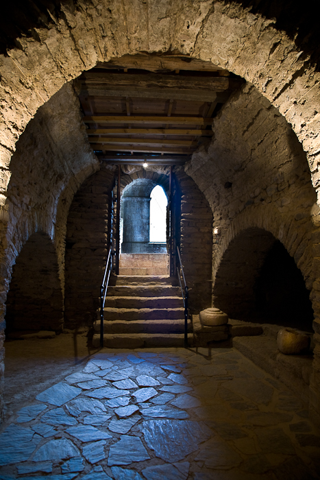 Crypt, Abbaye Saint-Michel de Cuxa, Codalet (Pyrénées-Orientales) Photo by PJ McKey