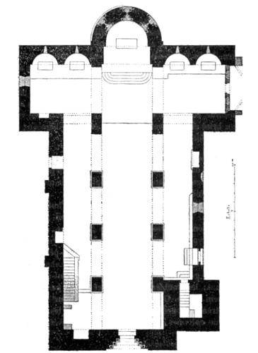 Plan,  Eglise Sainte-Marie à Corneilla-de-Conflent, Corneilla-de-Conflent (Pyrénées-Orientales)