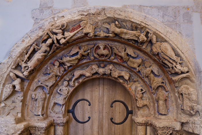 Refectory Door, Abbaye Saint Aubin, Angers (Maine-et-Loire) Photo by Dennis Aubrey