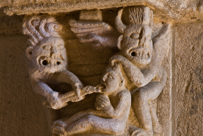 Punishment of the talkative, Église Notre-Dame-de-la-Nativité, Bois-Sainte-Marie (Saône-et-Loire)  Photo by Dennis Aubrey