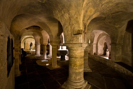 Crypt,  Collégiale Saint-Cerneuf, Billom (Puy-de-Dôme) Photo by PJ McKey