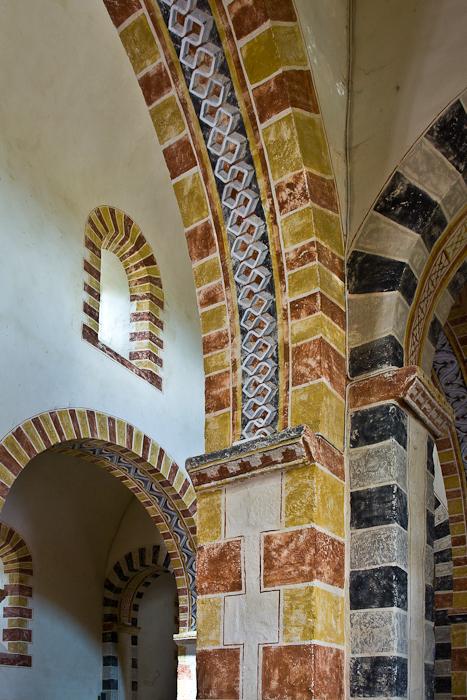 Arch detail, Église Saint-Jean, Glaine-Montaigut (Puy-de-Dôme)  Photo by PJ McKey