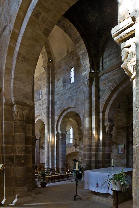Nave from transept, Église Notre-Dame-de-la-Nativité, Bois-Sainte-Marie (Saône-et-Loire)  Photo by PJ McKey