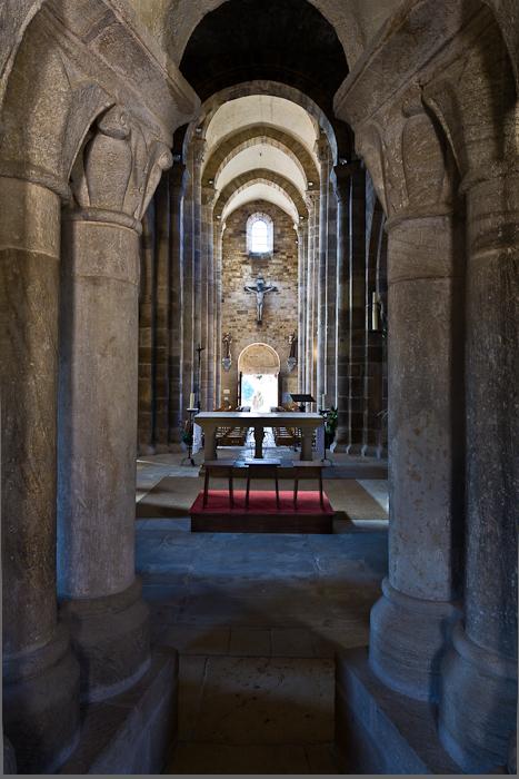 View from ambulatory, Église Notre-Dame-de-la-Nativité, Bois-Sainte-Marie (Saône-et-Loire)  Photo by PJ McKey