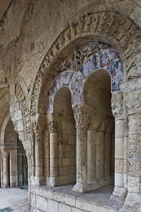 Tympanum, Abbaye Saint Aubin, Angers (Maine-et-Loire) Photo by PJ McKey