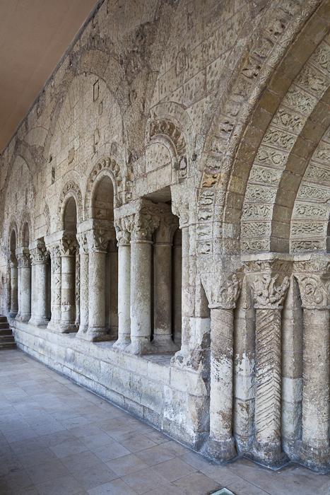 Cloister, Abbaye Saint Aubin, Angers (Maine-et-Loire) Photo by PJ McKey