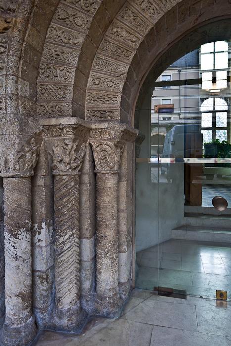 Cloister in situ, Abbaye Saint Aubin, Angers (Maine-et-Loire) Photo by PJ McKey