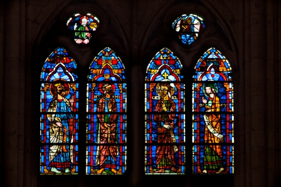 Stained glass, Cathédrale Saint Pierre et Saint Paul, Troyes (Aube)  Photo by Dennis Aubrey