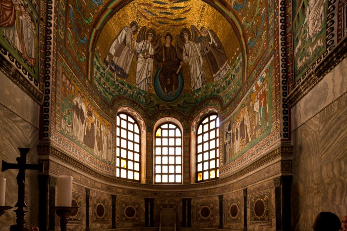 Mosaic, Basilica di San Vitale, Ravenna (Emilia-Romagna)  Photo by Dennis Aubrey