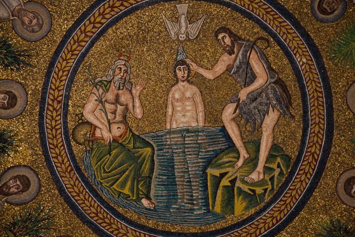 Mosaic, Battistero degli Ariani, Ravenna (Emilia-Romagna)  Photo by Dennis Aubrey