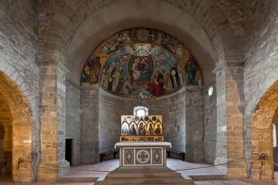 Apse mosaic, Abbazia di San Godenzo, San Godenzo (Toscana)  Photo by Dennis Aubrey