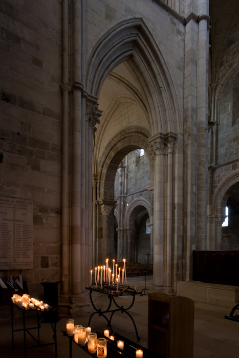 Transept chapel, Basilique Sainte Madeleine, Vézelay (Yonne)  Photo by Dennis Aubrey