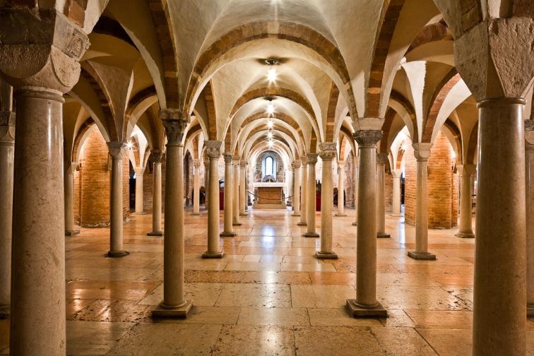 Crypt, Abbazia di San Silvestro, Nonantola (Emilia-Romagna)  Photo by PJ McKey