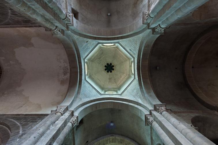 Cupola, Collégiale Saint-Junien de Saint-Junien,  Saint-Junien (Haute-Vienne)  Photo by Dennis Aubrey