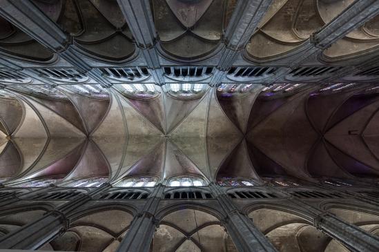 Nave vault, Cathédrale Saint-Etienne, Bourges (Indre) Photo by Dennis Aubrey