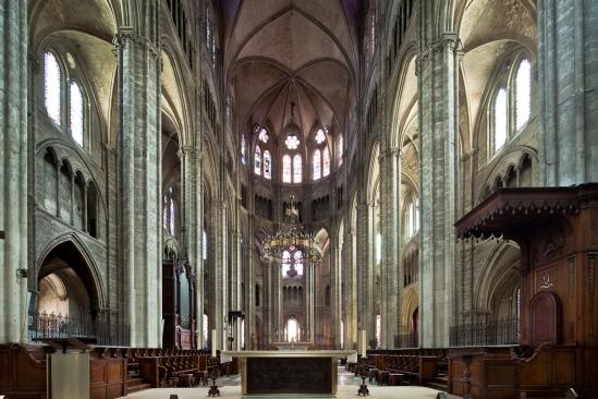 Choir, Cathédrale Saint-Etienne, Bourges (Indre)  Photo by Dennis Aubrey