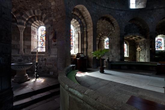 Choir from chapel, Église Saint-Georges, Saint-Paulien (Haute-Loire)  Photo by Dennis Aubrey