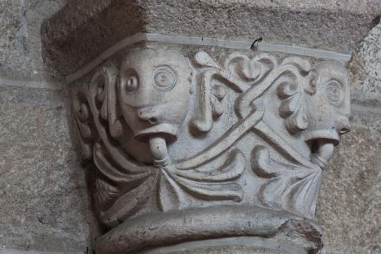 Capital, Abbatiale Saint Pierre et Saint Paul, Solignac (Haute-Vienne)  Photo by Dennis Aubrey