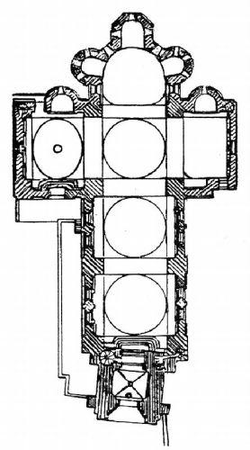 Plan, Abbatiale Saint Pierre et Saint Paul, Solignac (Haute-Vienne)