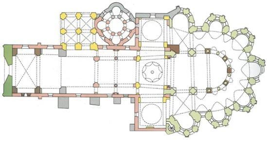 Plan, Collégiale de Saint-Léonard de Noblat, Saint-Léonard de Noblat (Haute-Vienne)