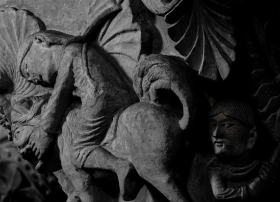 Capital - Basilique Sainte Madeleine, Vézelay (Yonne)  Photo by Dennis Aubrey