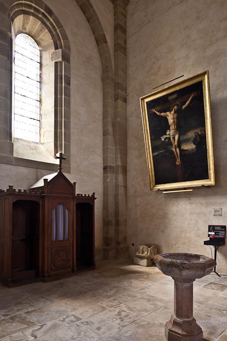 Transept with Le Calvaire, Abbaye Saint-Pierre du Vigeois, Vigeois (Corrèze)  Photo by PJ McKey