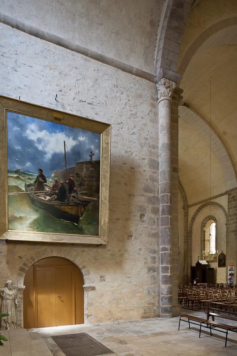 Le Salut au Calvaire, Georges-Jean-Marie Haquette (1884), Abbaye Saint-Pierre du Vigeois, Vigeois (Corrèze)  Photo by PJ McKey