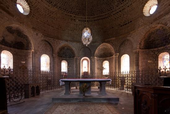 Choir, Église Saint Gilles, Chamalières-sur-Loire (Haute-Loire)  Photo by Dennis Aubrey