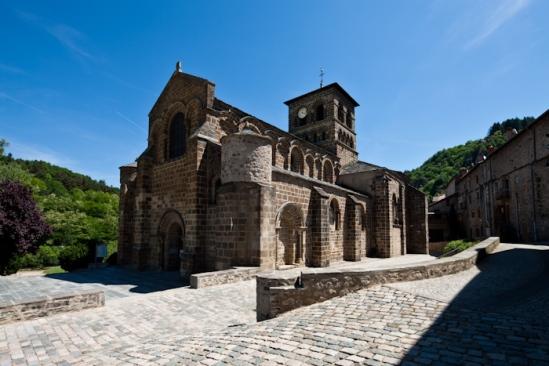 Exterior, Église Saint Gilles, Chamalières-sur-Loire (Haute-Loire)  Photo by Dennis Aubrey