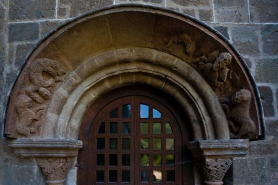 North portal, Église Saint Gilles, Chamalières-sur-Loire (Haute-Loire)  Photo by Dennis Aubrey