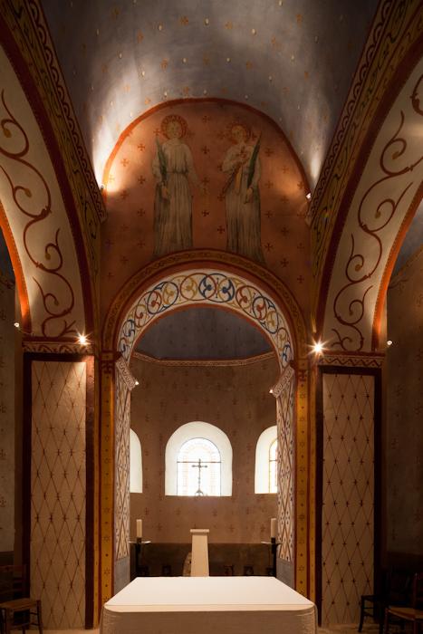 Apse, Église Saint Gervais et Saint Protais, Civaux (Vienne)  Photo by Dennis Aubrey