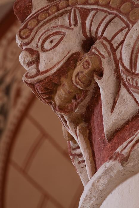 Head Snacker,  Église Saint Gervais et Saint Protais, Civaux (Vienne) Photo by Dennis Aubrey