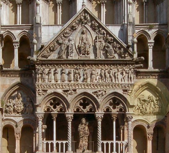 West facade detail, Cattedrale di San Giorgio Martire, Ferrara (Emilia-Romagna)  Creative Commons CC0 1.0 Universal Public Domain Dedication