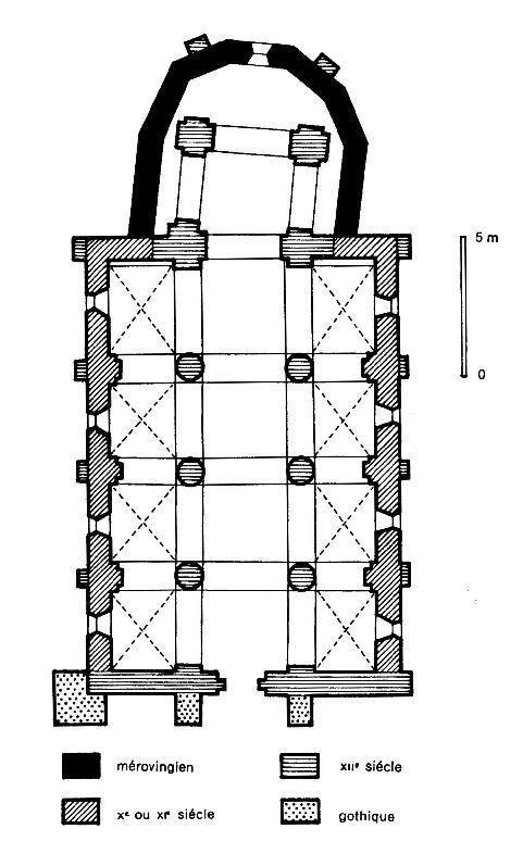 Ground plan, Église Saint Gervais et Saint Protais, Civaux (Vienne)