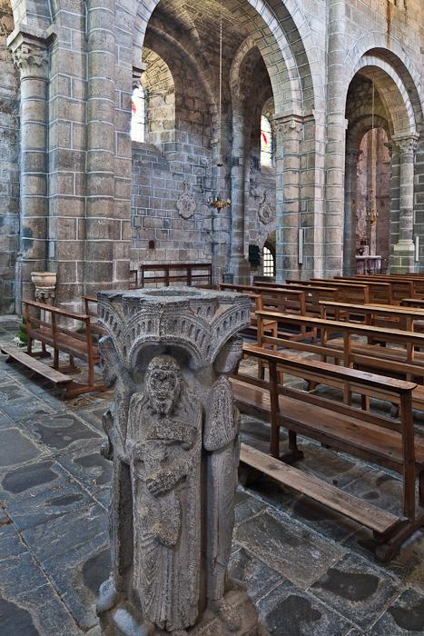 Benetier, Église Saint Gilles, Chamalières-sur-Loire (Haute-Loire)  Photo by PJ McKey