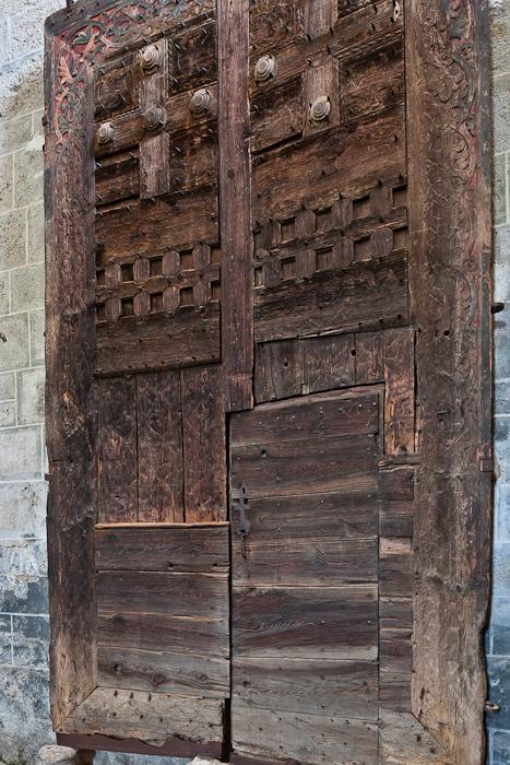 Wooden door, Église Saint Gilles, Chamalières-sur-Loire (Haute-Loire)  Photo by PJ McKey