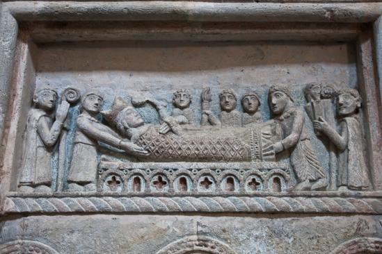 Bishop's tomb, Église Saint Gilles, Chamalières-sur-Loire (Haute-Loire) Photo by PJ McKey