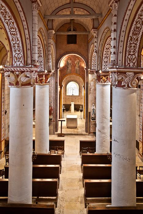 Nave, Église Saint Gervais et Saint Protais, Civaux (Vienne) Photo by PJ McKey