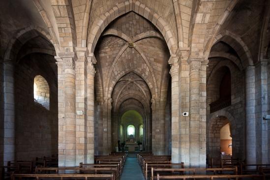 Nave, Église Saint Julien, Saint-Julien-Chapteuil (Haute-Loire)  Photo by Dennis Aubrey