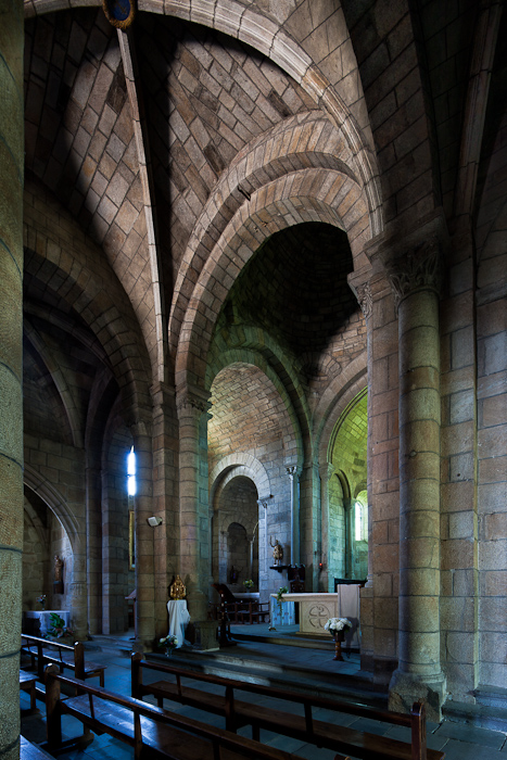 Choir from transept, Église Saint Julien, Saint-Julien-Chapteuil (Haute-Loire)  Photo by Dennis Aubrey
