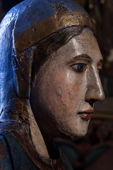 Vierge Romane, Église Saint-Martin, Courpière (Puy-de-Dôme)  Photo by Dennis Aubrey