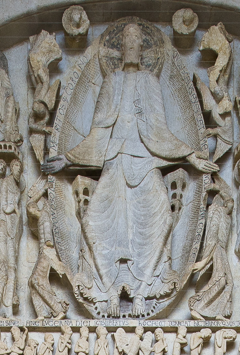Tympanum detail, Cathédrale Saint Lazare, Autun (Côte-d'Or) Photograph by Dennis Aubrey