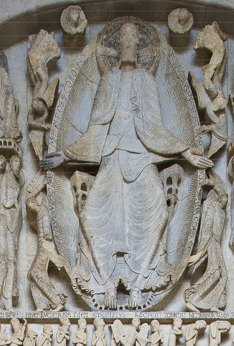 Tympanum detail, Cathédrale Saint Lazare, Autun (Côte-d'Or) Photograph by Dennis Aubrey