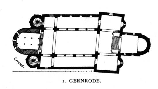 Plan, Stiftskirche Saint Cyriakus, Gernrode (Sachsen-Anhalt, Germany)