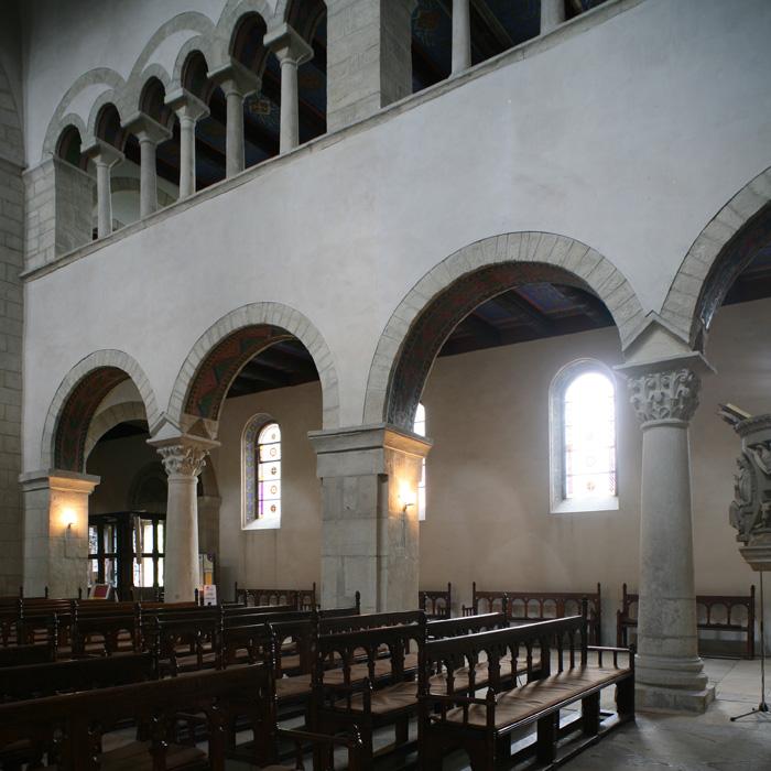 Nave elevation, Stiftskirche Saint Cyriakus, Gernrode (Sachsen-Anhalt, Germany)  Photo by Jong-Soung Kimm