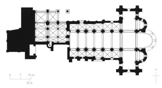 Plan, Basilica of San Isidoro, León (Castile-León)
