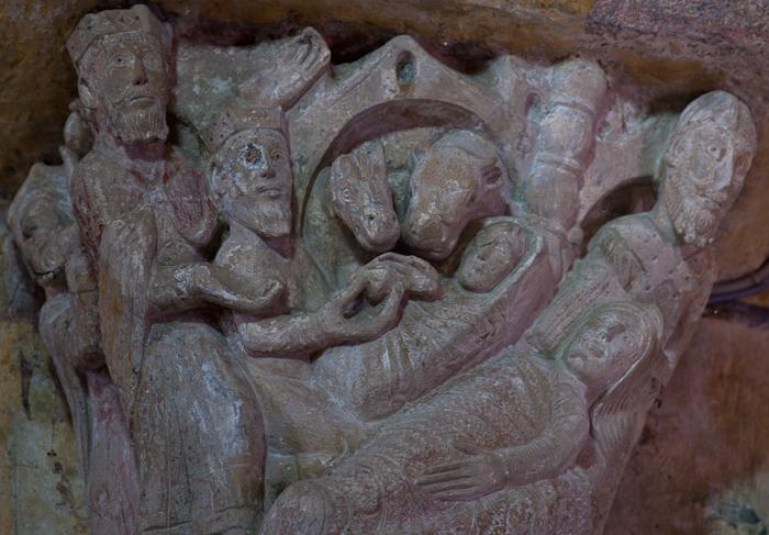 Adoration of the Magi, Église Saint-Étienne, Lubersac (Corrèze)  Photo by Dennis Aubrey