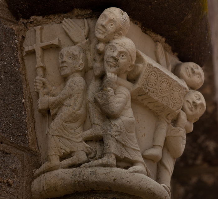 Capital, translation of the relics of Saint Stephen, Église Saint-Étienne, Lubersac (Corrèze)  Photo by Dennis Aubrey